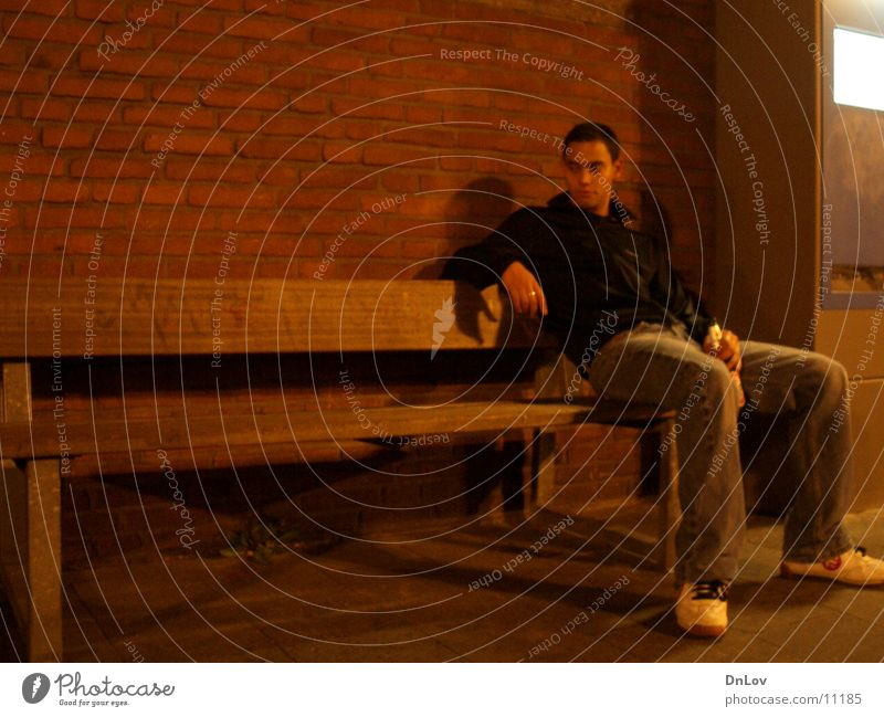 Man Loneliness Sit Bench Guy Fellow