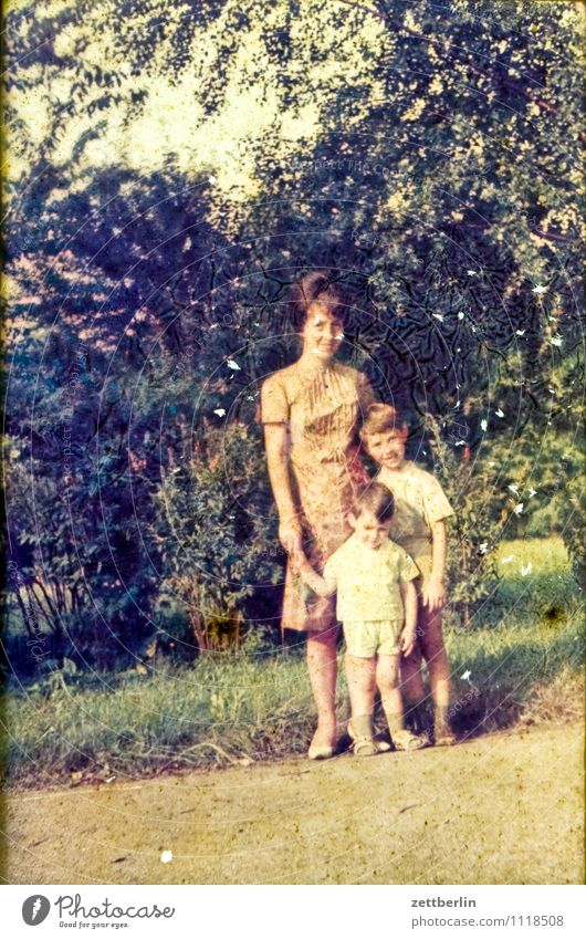 Mother, Child, Child, 1966 Boy (child) Vacation & Travel Travel photography Landscape Former Infancy Childhood memory Youth (Young adults) Young woman Past