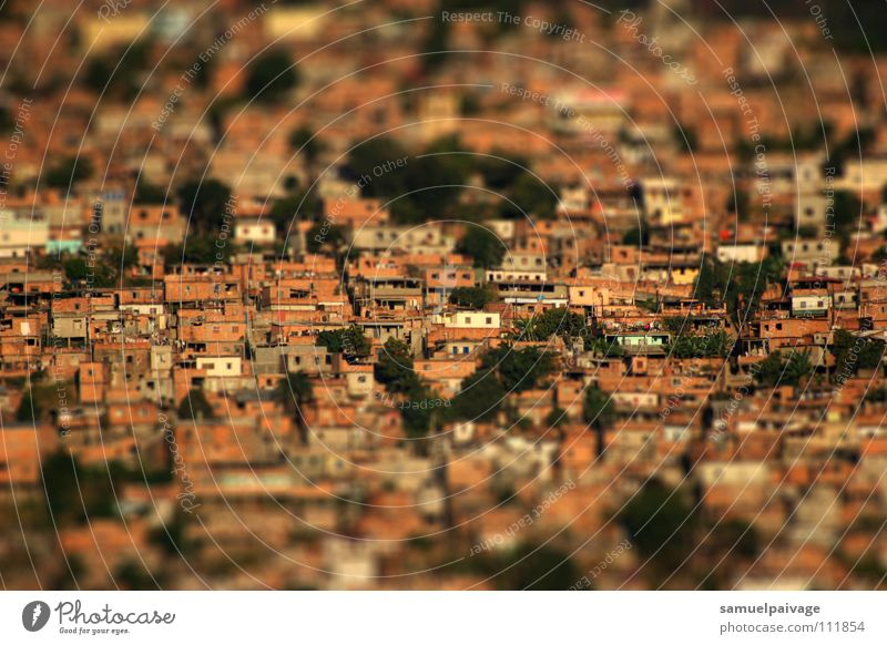 Living or residing Bra Slum area Tilt-Shift