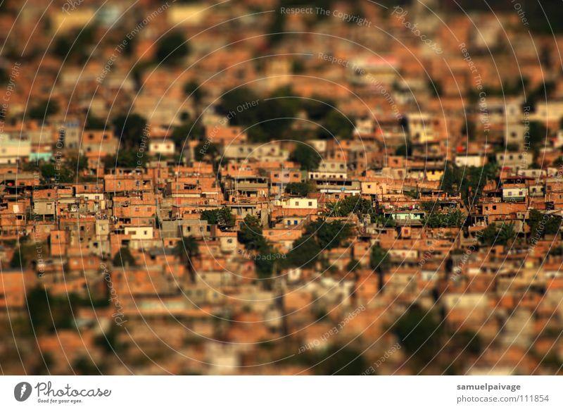 Stacked up Slum area Bra Living or residing Samuel Gê favela casas homes tilt shift serra landscape Tilt-Shift