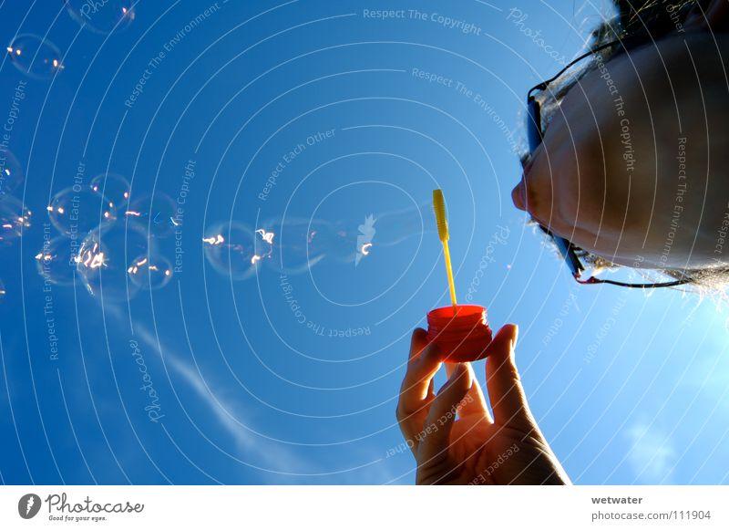 Sky Summer Joy Air Transience Blow Soap bubble