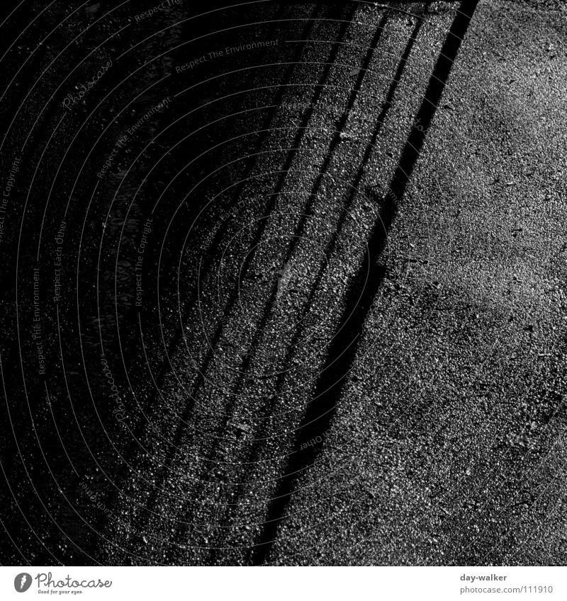 Ying and Yang Exposure Moody Dark Grating Cold Black & white photo Shadow Graffiti