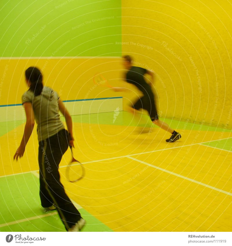 do something! Squash Playing Hundred-metre sprint Motion blur Action Healthy Jump Speed Beat Sporting event Thrashing Sports Mobility Movement Multicoloured