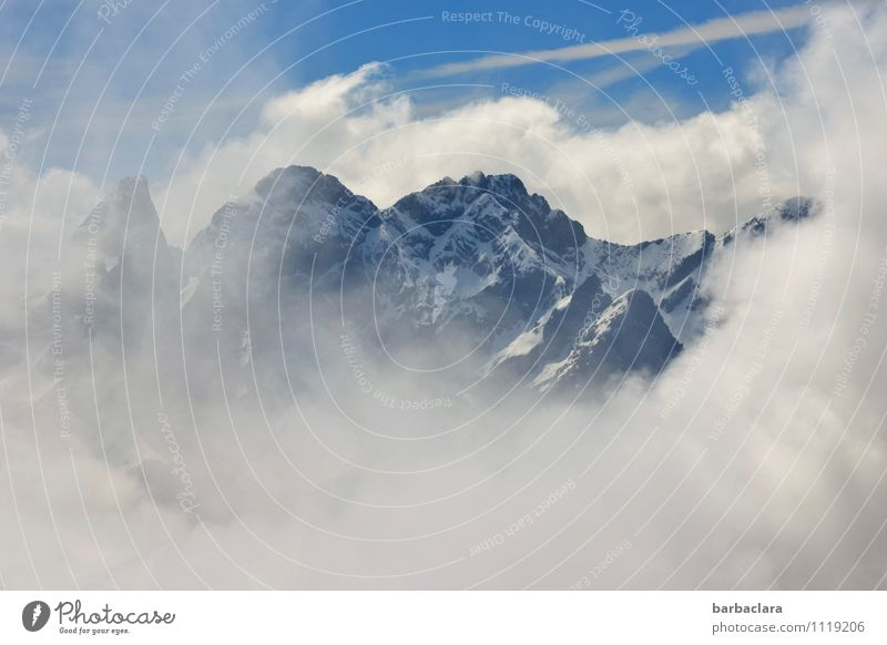 Sky Nature Blue White Clouds Far-off places Cold Mountain Freedom Moody Earth Tall Climate Elements Might Alps