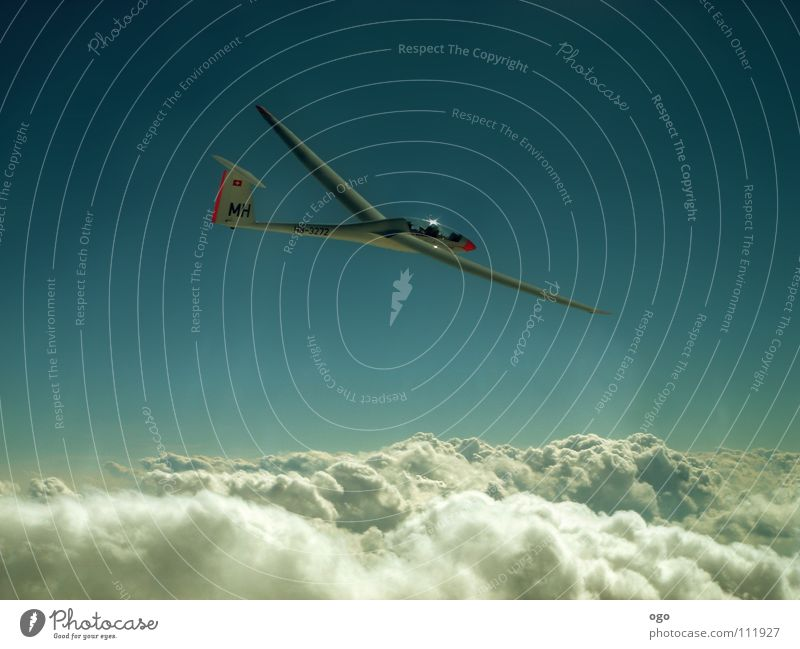 walk on the air Clouds Above the clouds Gliding Sailing Switzerland Dream Air Airplane Waves Pilot Glide White Leisure and hobbies Oxygen Bird Warmth Sky Sports