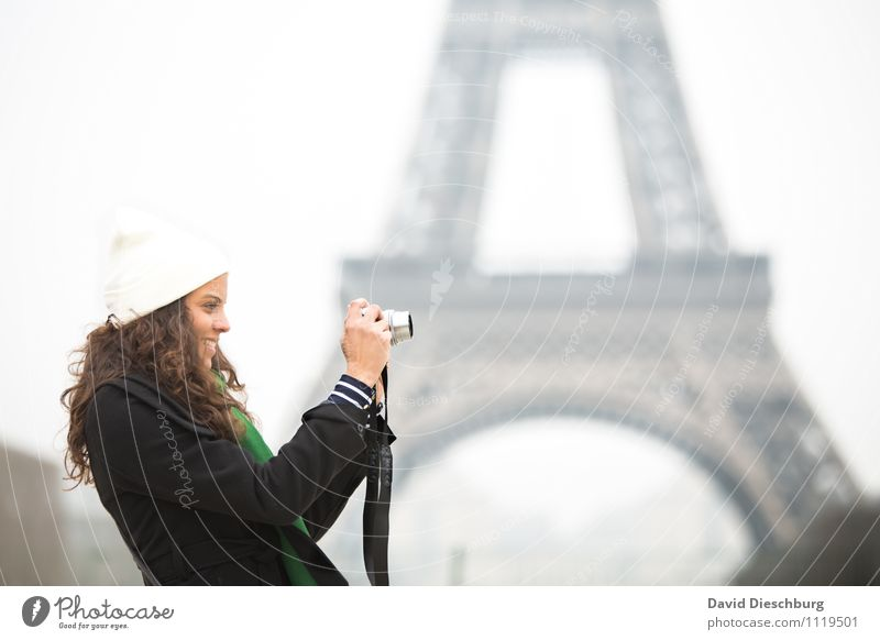 Human being Vacation & Travel Youth (Young adults) City 18 - 30 years Adults Feminine Happy Art Contentment Tourism Happiness Creativity Photography Tower Cap