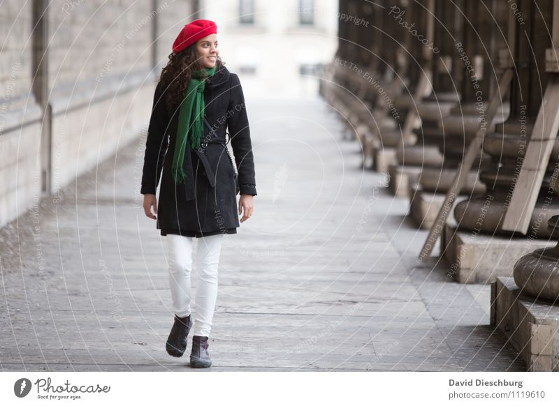 Human being Woman Vacation & Travel Youth (Young adults) 18 - 30 years Adults Feminine Happy Facade Contentment Body Tourism Happiness Smiling To go for a walk
