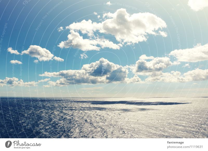 Sky Nature Blue White Water Ocean Landscape Clouds Environment Coast Horizon Air Beautiful weather Uniqueness Elements Infinity