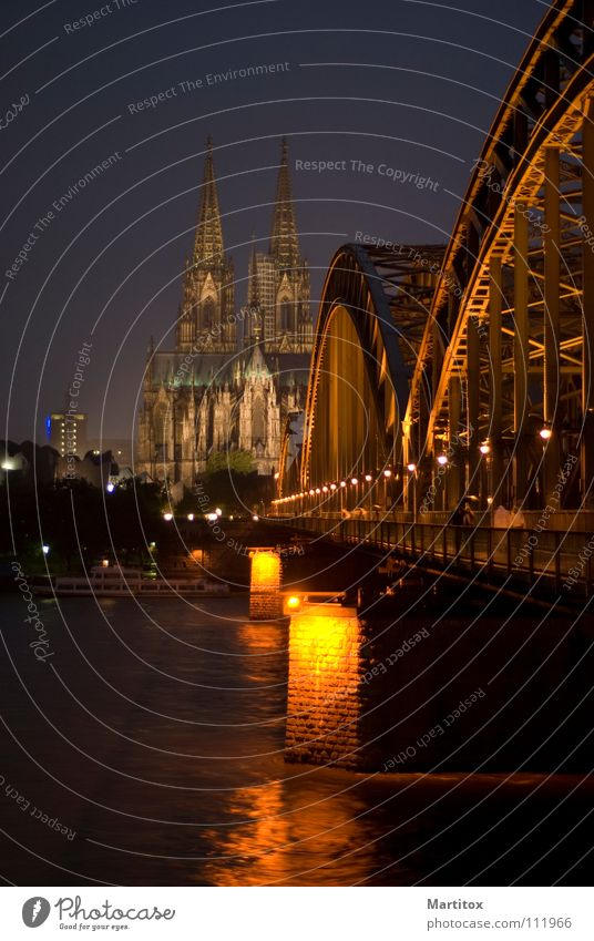 Bridge Cologne Cathedral Rhine Hohenzollern Bridge