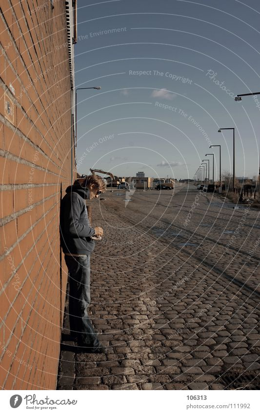 Human being Man Old Hand Joy Loneliness Calm Relaxation Street Cold Wall (building) Playing Lanes & trails Freedom Wall (barrier) Style