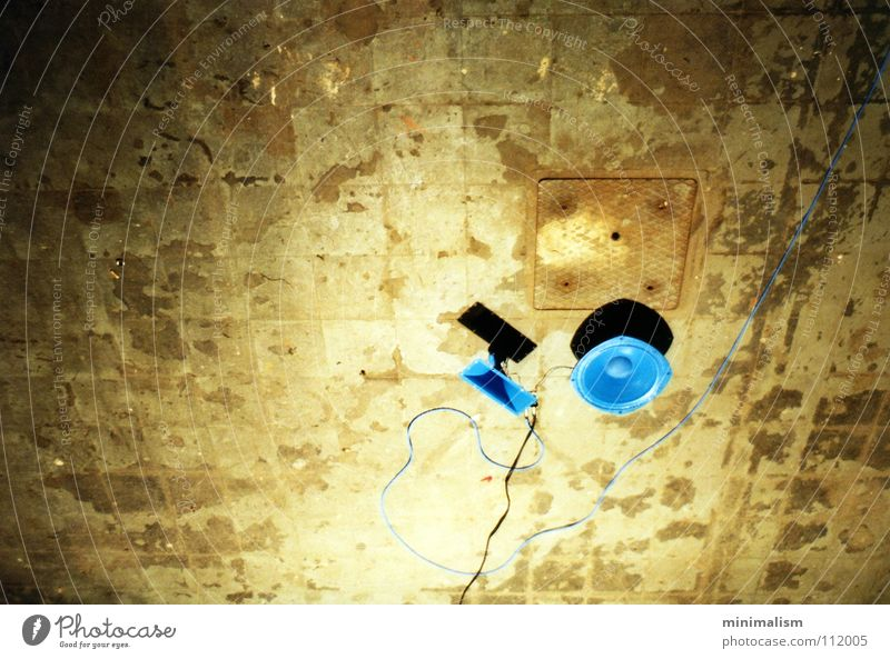 out of the blue.. Art Work of art Loudspeaker Installations Stone floor Music woofers Antlers Sound