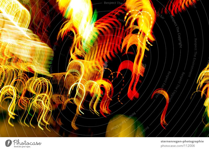 ? Long exposure Light Question mark Multicoloured Fairs & Carnivals Colour Church service