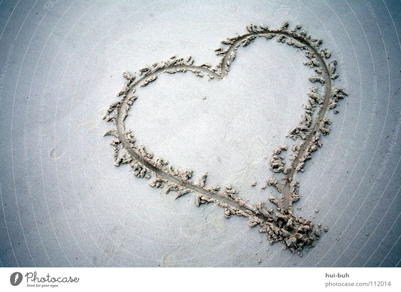 Beautiful Vacation & Travel Beach Love Sand Earth Heart Symbols and metaphors Sign Beat Compassion Knock