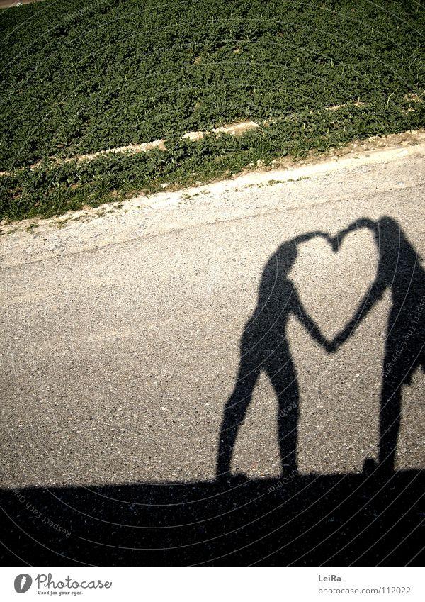 Shadow-heart. Friendship Autumn Spring Field Love Heart Street
