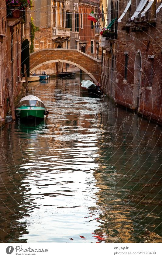 waterway Vacation & Travel Tourism Trip Sightseeing City trip Summer Summer vacation Channel Venice Italy Town Port City Old town Deserted