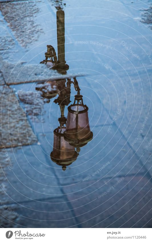 watermark Street lighting Water Puddle Venice Lanes & trails Fluid Wet Romance Sadness Concern Grief Death Lovesickness Longing Loneliness Hope Nostalgia Dream