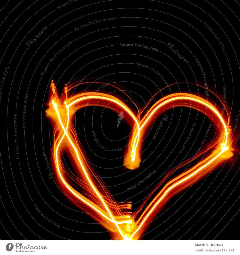 With Love Light Visual spectacle Fairy lights Valentine's Day Red Yellow Tripod Long exposure Radiation Curve Balance sheet Statistics Progress Tracks Deep