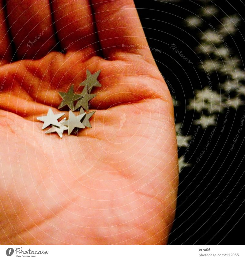 Christmas & Advent Hand Metal Skin Fingers Star (Symbol) Decoration Silver Handicraft Give Donate