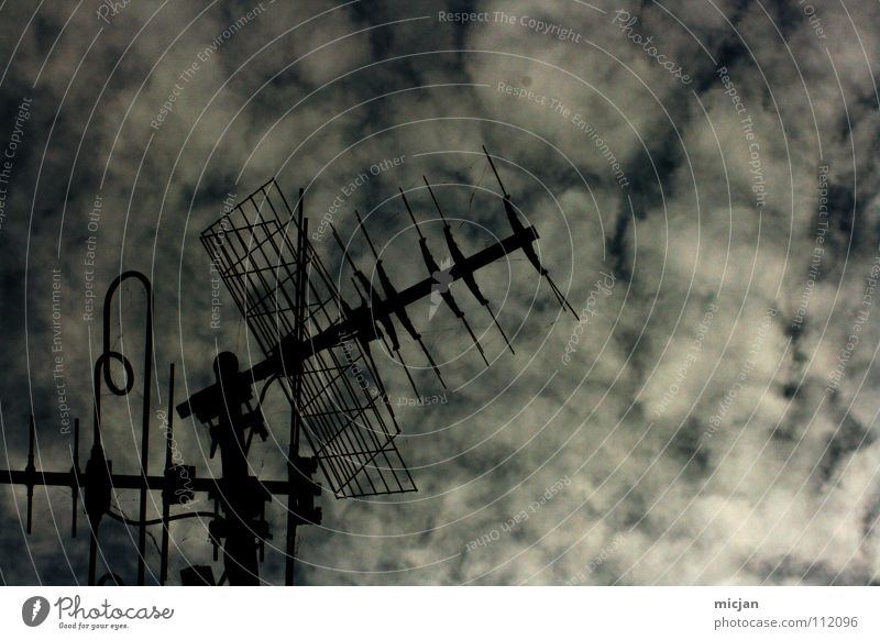 Sky Old Clouds Black Winter Dark Gray Weather Communicate Universe Media Listening Television Radiation Station Wire