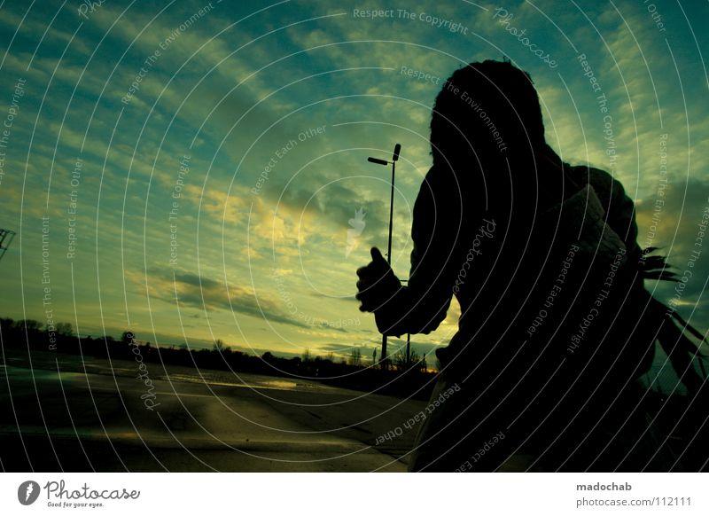 Human being Woman Sky Hand Beautiful Winter Calm Face Dark Movement Sadness Moody Wind Power Going Fear