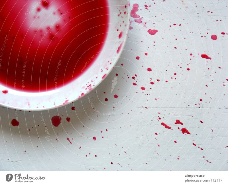 White Red Nutrition Colour Dirty Drops of water Cooking & Baking Kitchen Gastronomy Plate Blood Inject Household Explosion Juice Intensive