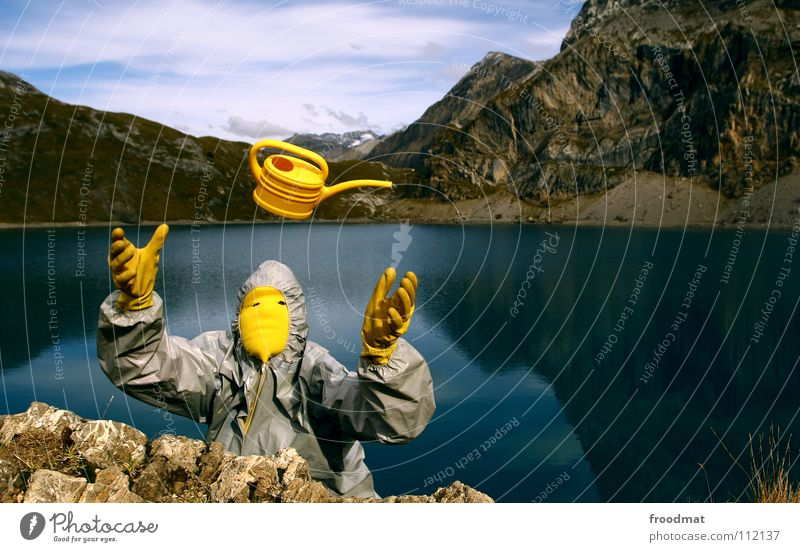 graugelb™ in switzerland Lake Gray Jug Yellow Idyll Mirror Heavenly Stupid Switzerland Iffigensee Alps Throw fly. mountains Mountain Surrealism Blue Joy Sky