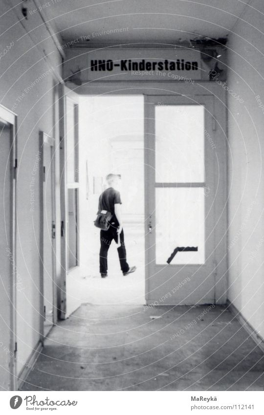 Loneliness Dark Health care Closed Transience Derelict Hallway Hospital Passage Flashy Axe Tool