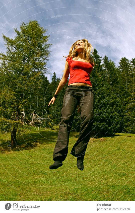 Nature Beautiful Vacation & Travel Joy Freedom Laughter Happy Jump Leisure and hobbies Flying Action Romance Alps Switzerland Dynamics Exuberance