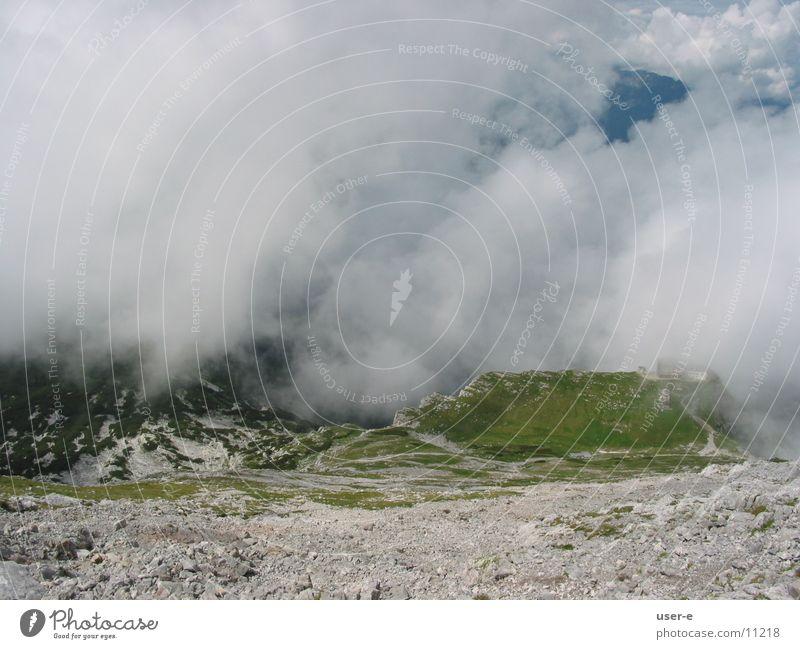 Watzmann House Clouds Mountain Landscape