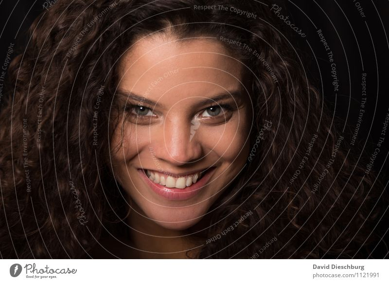 Human being Woman Youth (Young adults) Beautiful Joy 18 - 30 years Black Adults Face Eyes Feminine Happy Laughter Hair and hairstyles Head Contentment