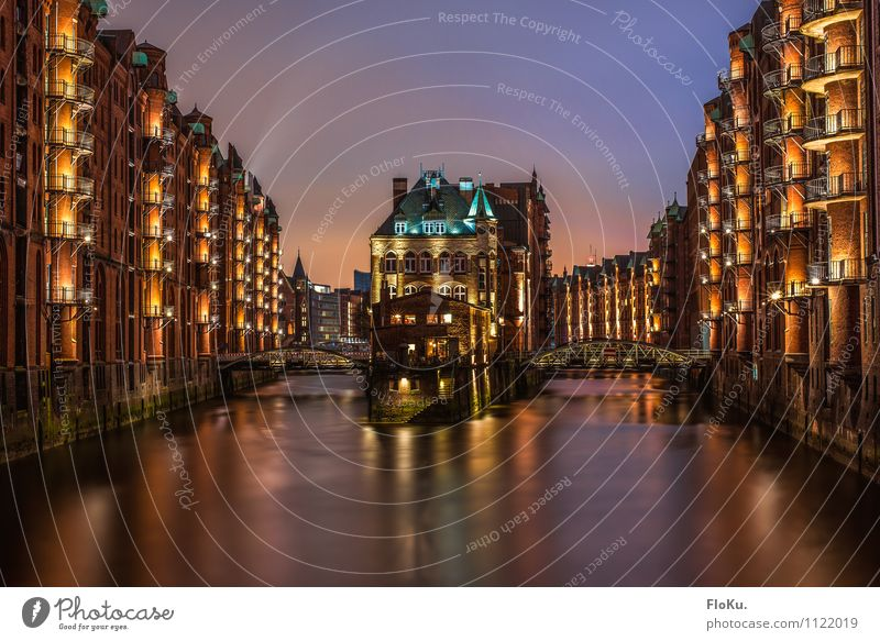 Postcard from Hamburg Water River Elbe Town Port City Downtown Old town House (Residential Structure) Industrial plant Castle Harbour Bridge Manmade structures