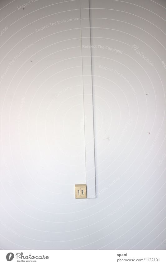 No connection under this number Telephone Telecommunications Wall (barrier) Wall (building) Plastic Simple White Colour photo Interior shot Copy Space left