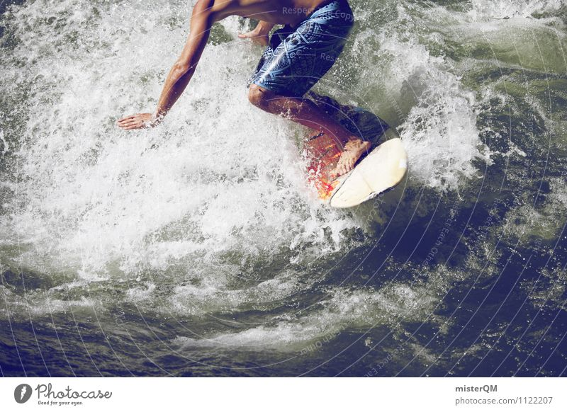 Board Game I Art Esthetic Contentment Surfboard Surfer Surfing Waves Swell Wave action Wave break Extreme sports Balance Dexterity Athletic Sports Fitness
