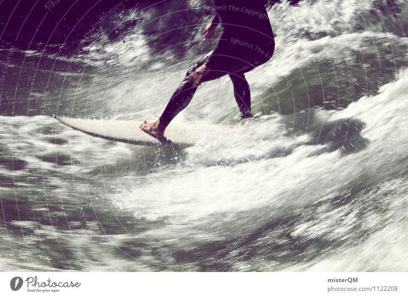 Board Game II Art Work of art Esthetic Contentment Surfer Surfing Surfboard Surf school Waves Wave action Crest of the wave Wave break Legs Barefoot Water