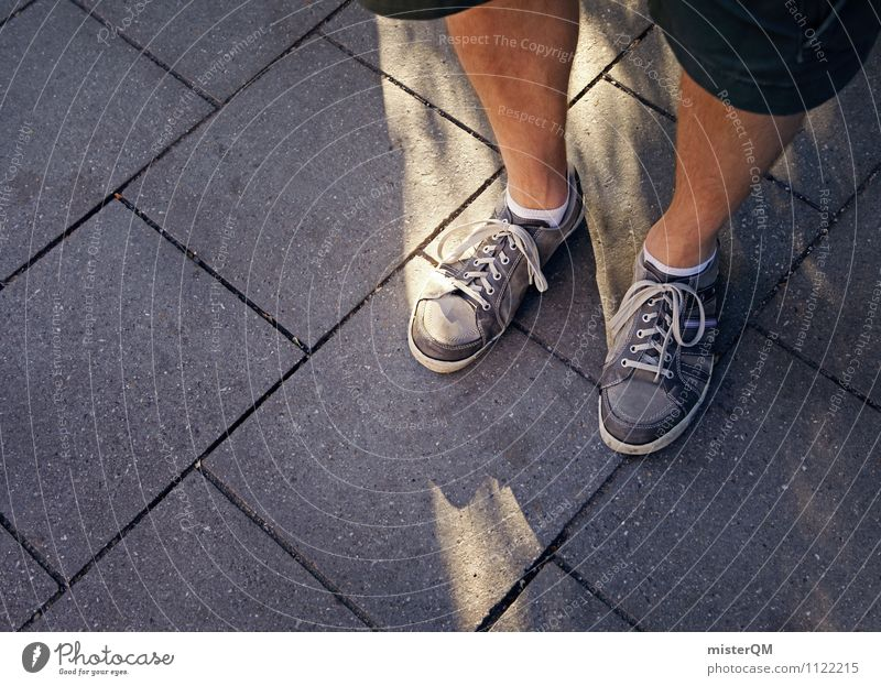 ovations. Art Contentment Stand Feet Footwear Footpath Legs Exterior shot Wait Youth culture Youth (Young adults) Youth movement Colour photo Subdued colour