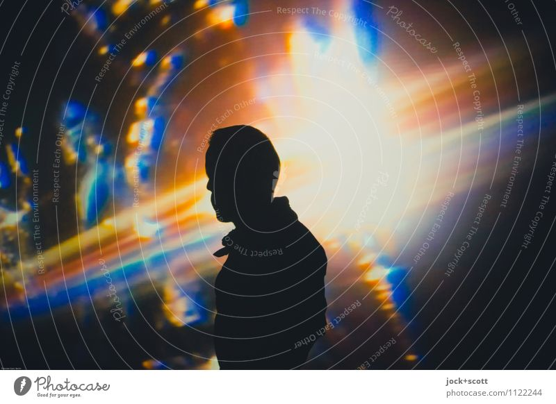 Lost in Color Meditation Masculine 1 Installations Think Dream Fantastic Identity Inspiration Projection Color gradient Dream world Galaxy Background lighting
