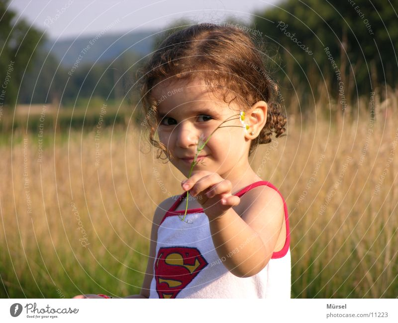 Child Girl Summer Hero Superman