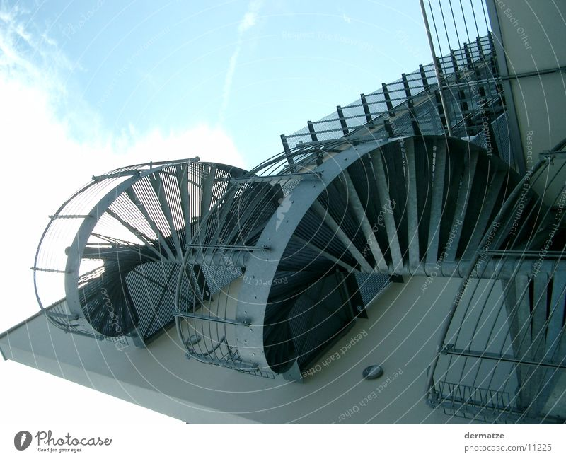 spiral staircase Building Facade Grating Architecture Stairs