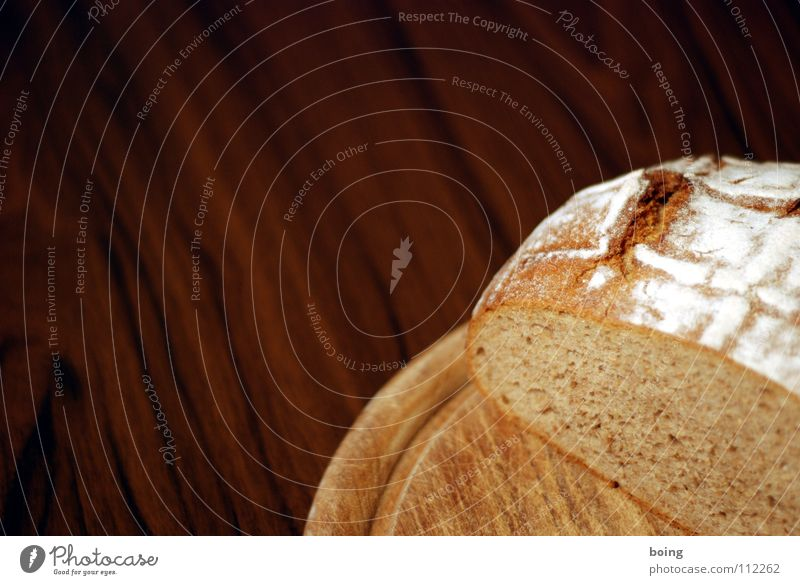 Earth Power Fresh Nutrition Table Force Appetite Breakfast Bread Dinner Partially visible Household Baked goods Wheat Dough Chopping board