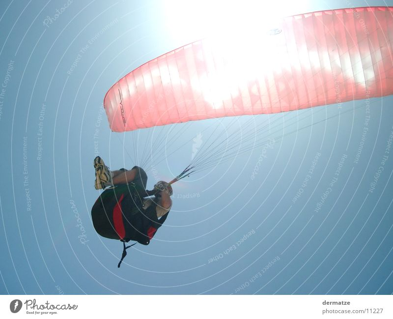 sunlight Paraglider Paragliding Extreme sports Flying Sun