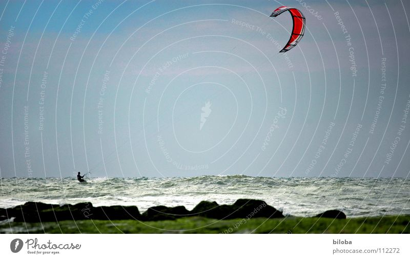 Kitesurfing at the North Sea Kiting Leisure and hobbies Vacation & Travel Aquatics Sailing Adventure Speed Ocean Belgium Sports Playing Beach Coast Europe fun