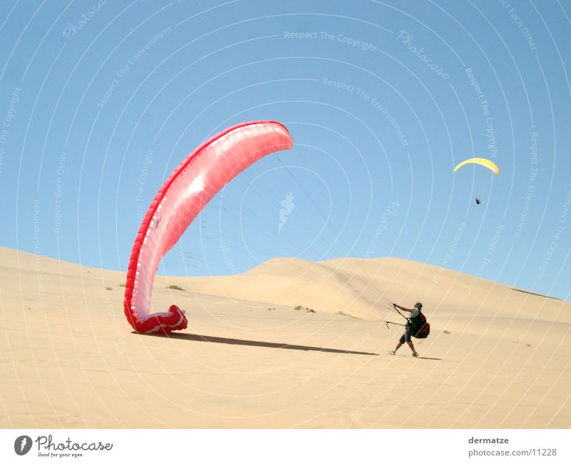 Up and away Paraglider Paragliding Sports Extreme sports Flying Desert Beach dune Wind