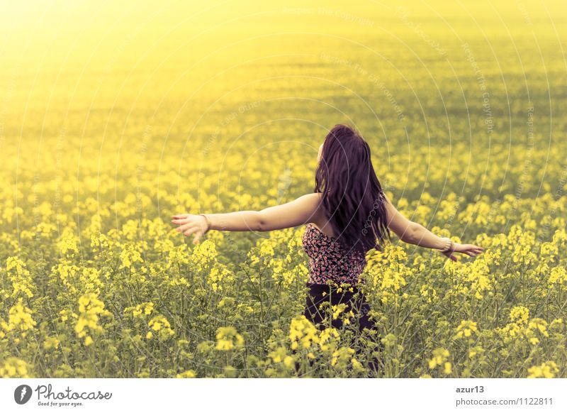 Human being Woman Nature Vacation & Travel Youth (Young adults) Plant Green Beautiful Summer Young woman Sun Landscape Healthy Eating Calm Joy Far-off places