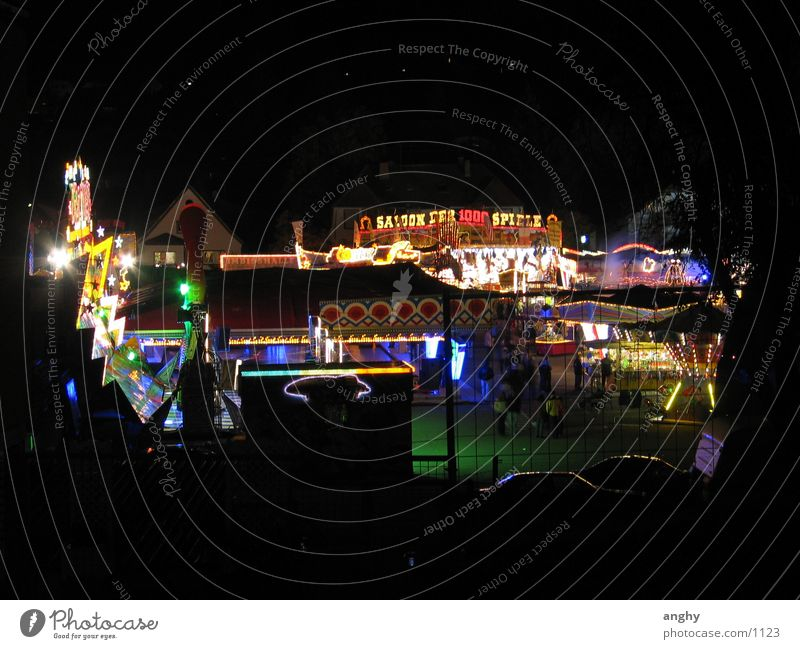 colourful hustle and bustle in St. Wendel Night Light Fairs & Carnivals Multicoloured Leisure and hobbies Kerwe