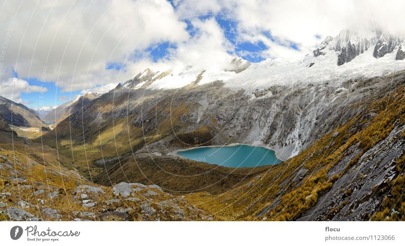Punta Union, Cordillera Blanca, Santa Cruz Trek, Peru Nature Vacation & Travel Blue Beautiful Water White Landscape Mountain Lanes & trails Natural Snow Lake