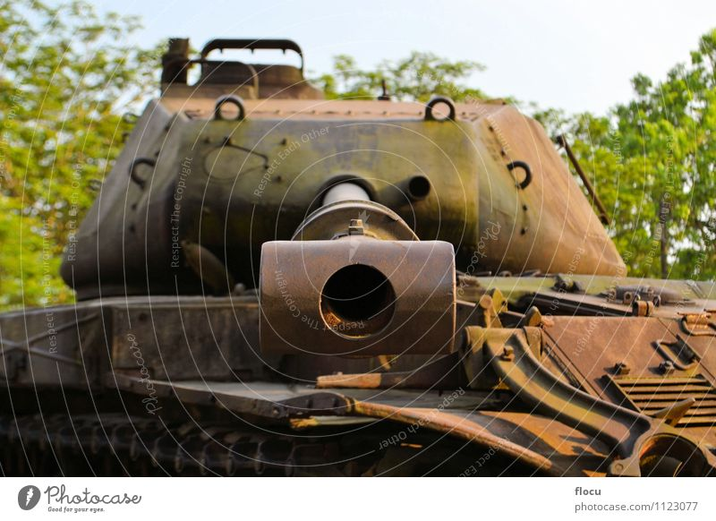 US Army Tank used during the Vietnam War Vacation & Travel Green Clouds Transport Vantage point Protection Vehicle Aggression Weapon Camouflage Shot Boxing