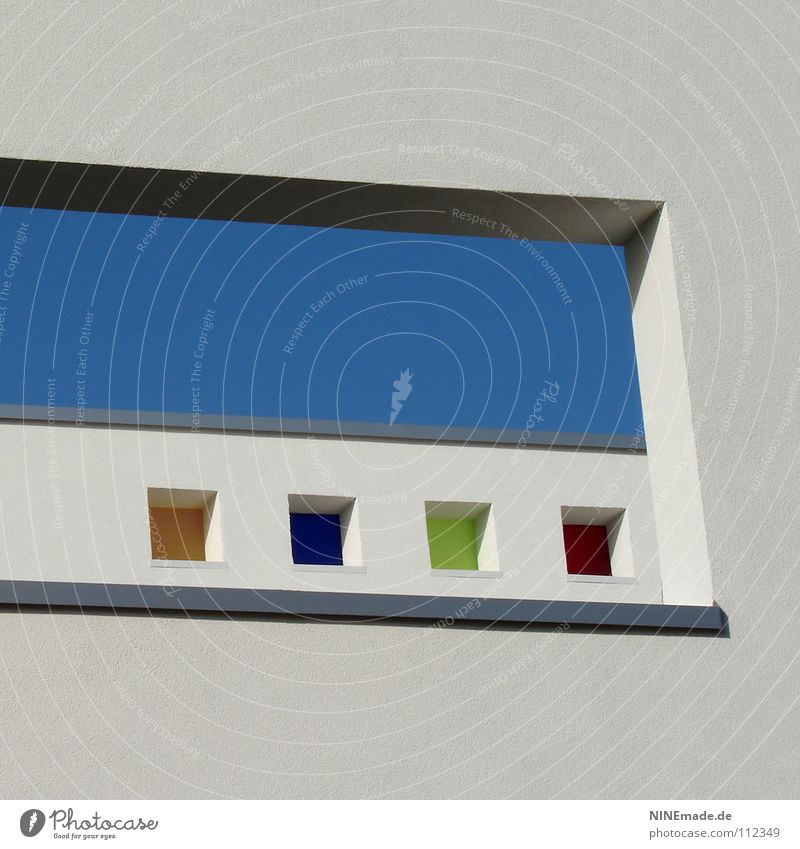 Blue Green Summer White Red Joy House (Residential Structure) Window Warmth Architecture Funny Building Small Gray Line Metal