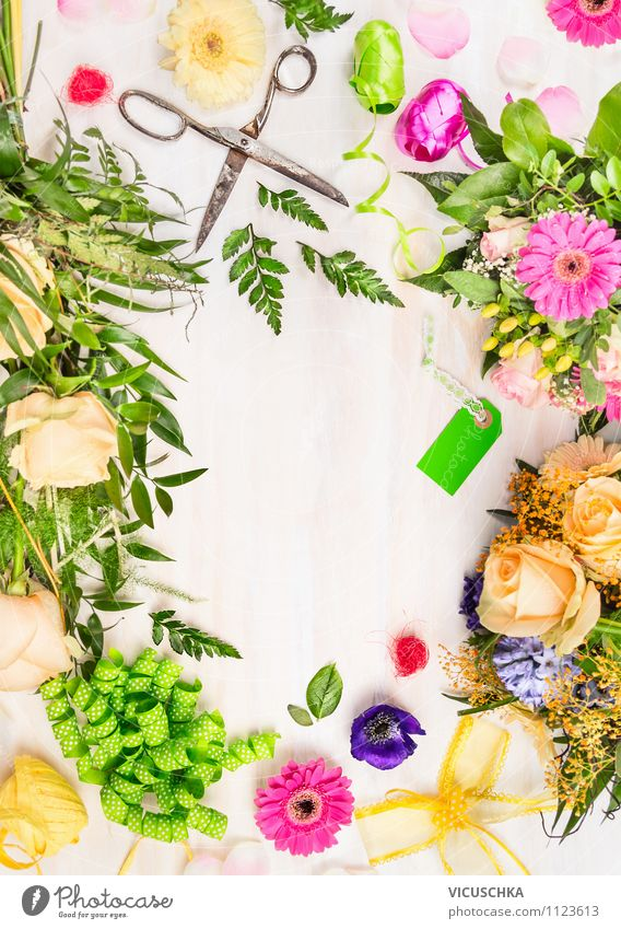 Make a bouquet with decoration. Lifestyle Style Design Leisure and hobbies House (Residential Structure) Garden Decoration Table Feasts & Celebrations