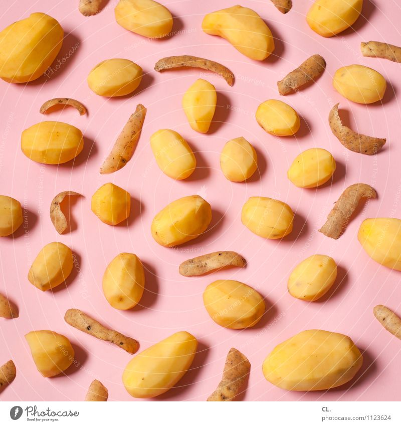 Colour Yellow Eating Food Pink Esthetic Nutrition Creativity Inspiration Whimsical Potatoes Potato peel Super Still Life