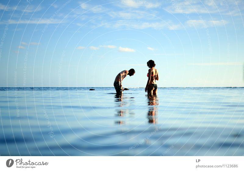 al Human being Nature Blue Water Summer Sun Ocean Far-off places Feminine To talk Swimming & Bathing Above Horizon Masculine Fresh Body